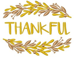 Golden Branches Frame Thankful embroidery design