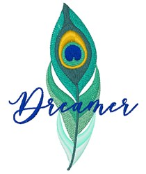 Dreamer Peacock Feather embroidery design