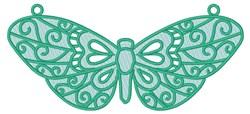 Butterfly Pendant embroidery design