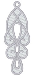 Lace Swirl Earring embroidery design