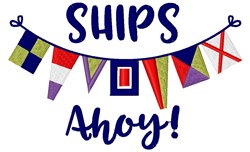 Ships Ahoy embroidery design