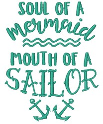 Mermaid Soul, Sailor Mouth embroidery design