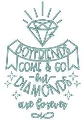 Diamonds Forever embroidery design