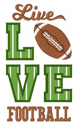 Live Love Football embroidery design