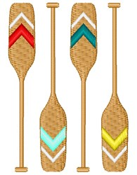 Rowing Oars embroidery design
