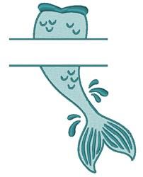Mermaid Tail Split embroidery design