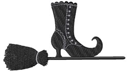 Halloween Witches Broom embroidery design