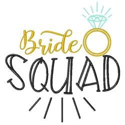 Bride Squad embroidery design