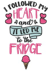 To The Fridge! embroidery design