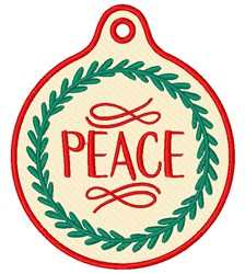 Christmas Peace Gift Tag embroidery design