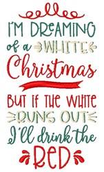 Dreaming Of White Christmas embroidery design