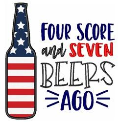 Seven Beers Ago Applique embroidery design