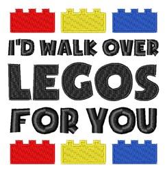 Walk Over Legos embroidery design