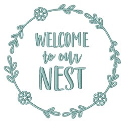 Welcome To Nest embroidery design