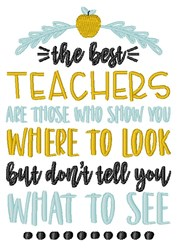 Best Teachers embroidery design