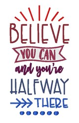 Believe You Can embroidery design