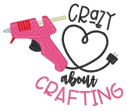 Crazy About Crafting embroidery design
