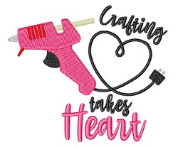 Crafting Heart embroidery design