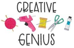 Crative Genius embroidery design