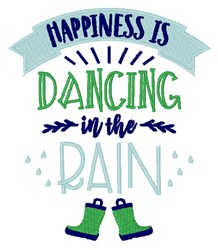 Dancing In Rain embroidery design