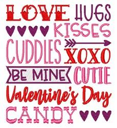 Love Hugs Kisses embroidery design