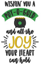Pot-o-Gold Wish embroidery design