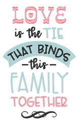 Love Binds embroidery design