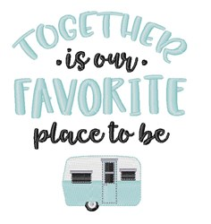 Favorite Place embroidery design