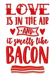 Smells Like Bacon embroidery design