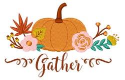 Pumpkin Gather embroidery design