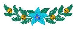 Christmas Blue Poinsettia embroidery design