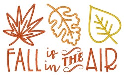 Fall In Air embroidery design