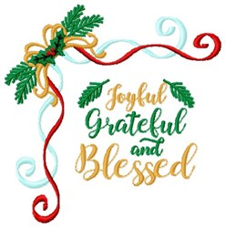 Grateful & Blessed embroidery design