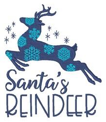 Santas Reindeer embroidery design