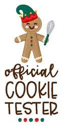 Official Cookie Tester embroidery design