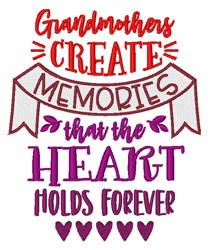 Grandmother Memories embroidery design