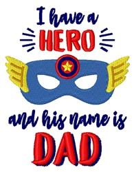 Hero Dad embroidery design