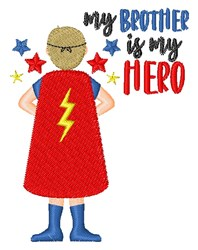 Hero Brother embroidery design