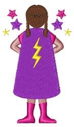 Superhero Girl embroidery design
