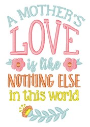 Mothers Love embroidery design