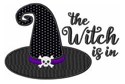 The Witch Is In Hat embroidery design