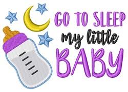 Baby Night Milk Bottle Moon Stars Sleep Lullaby embroidery design