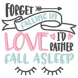 I d Rather Sleep embroidery design
