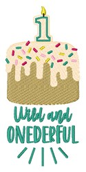 Wild And Onederful Birthday Cake embroidery design
