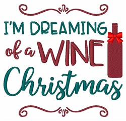 A Wine Christmas embroidery design