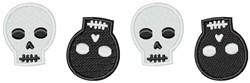 Halloween Skeleton Skulls Border embroidery design