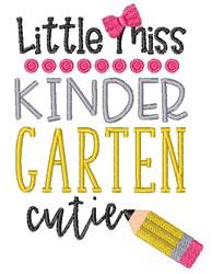 Little Miss Kindergarten Cutie School Pencil embroidery design