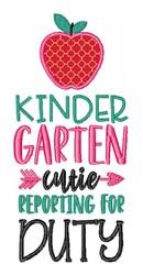 Kindergarten Cutie Apple embroidery design