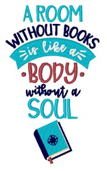 A Room Without Books embroidery design