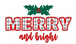 Christmas Holiday Merry Bright embroidery design